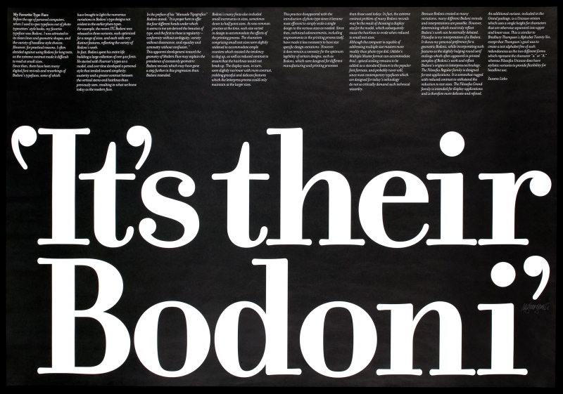 It's Their Bodoni