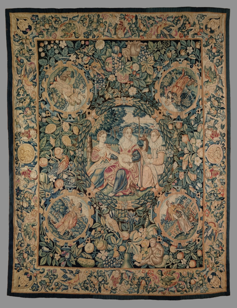 A Tapestry Depicting the Five Senses