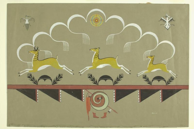 Three Running Antelope