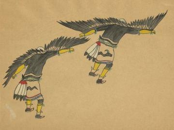 Two Eagle Dancers - Back View
