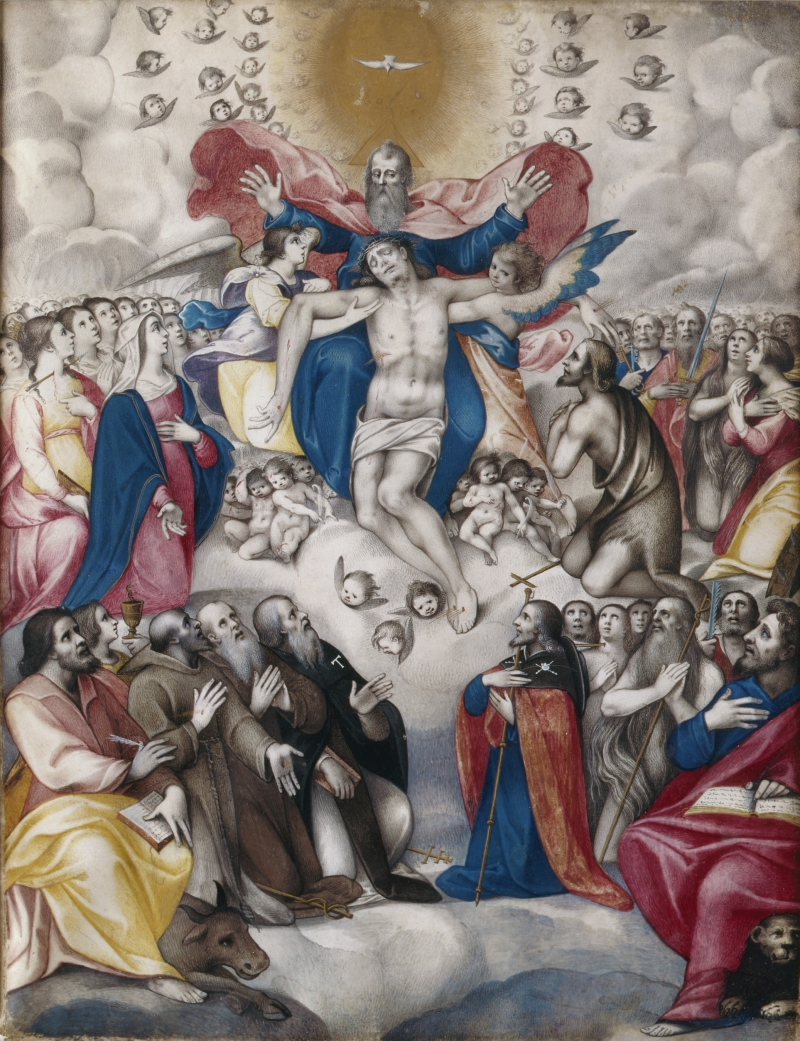 The Trinity with Saints