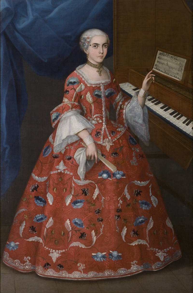 Young Woman With a Harpsichord