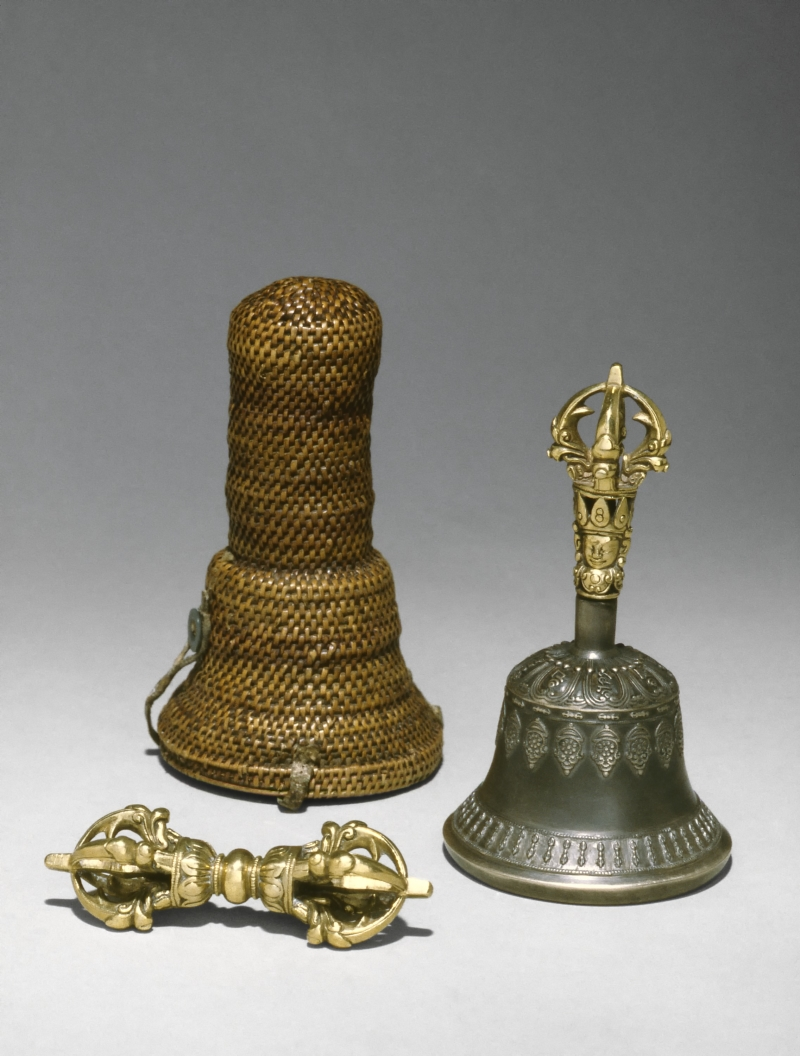 Thunderbolt Scepter (Dorje) and Bell (Drilbu) with Case