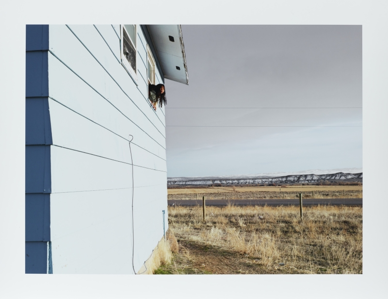 Ela and Bly, Wind River Reservation, Ethete, Wyoming from the series Frontcountry