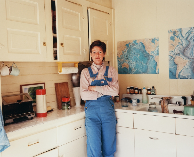 Pamela in the Kitchen in Overalls, Seattle
