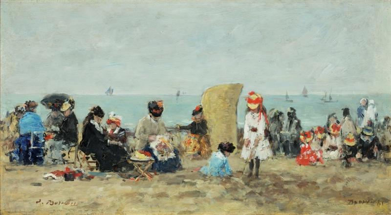 Scene at the Beach in Trouville (Trouville, scéne de plage)