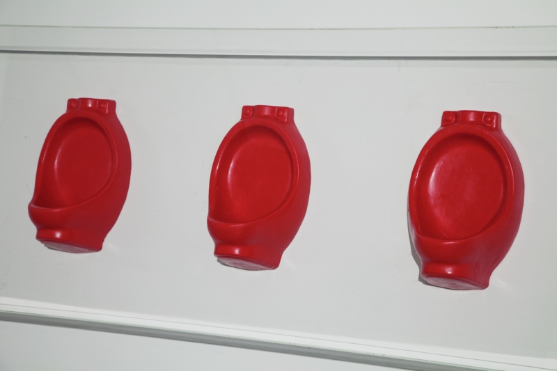 Untitled (Lipstick Urinals)