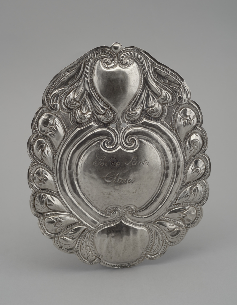 Silver plaque from the convent of Santa Clara