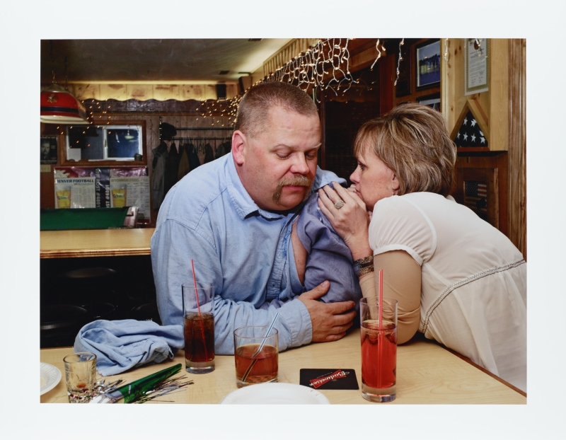 Doug and Lisa after a Bar Fight, Pinedale, Wyoming from the series Frontcountry
