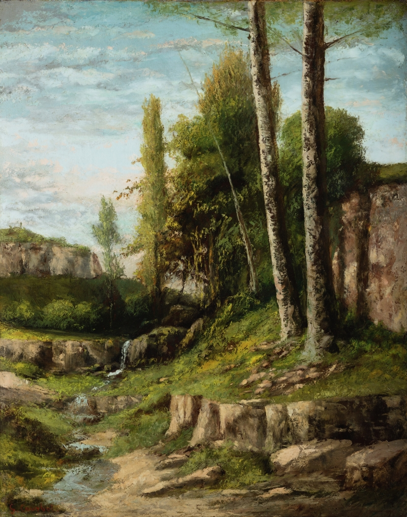 Landscape with Twin Trees