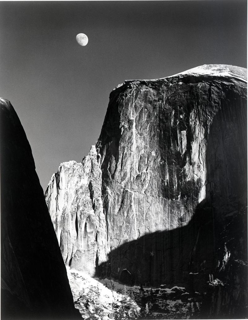 Moon and Half Dome, Yosemite