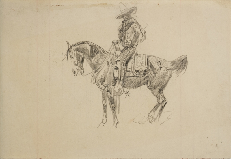 Untitled (Vaquero on horse)