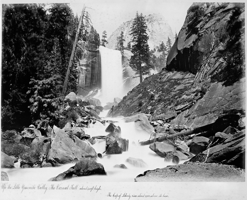 Towards the Little Yosemite Valley. The Vernal Fall
