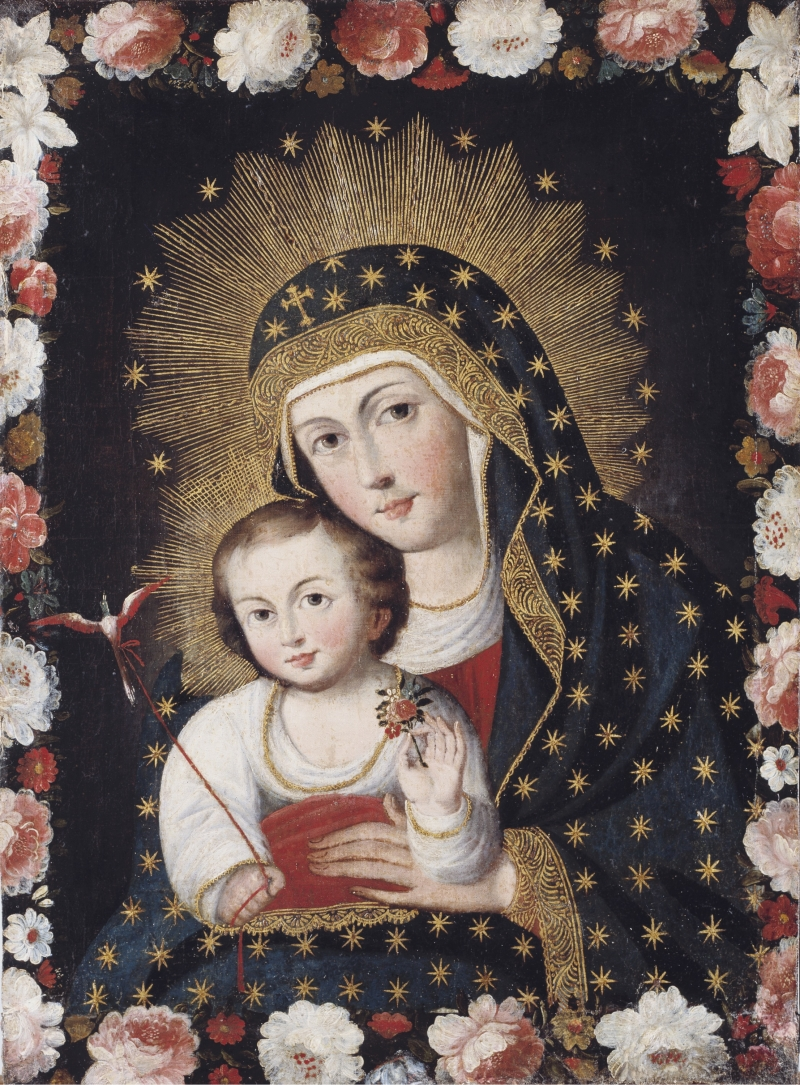 Madonna and Child with Bird