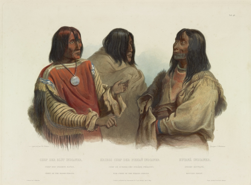 Chief of the Blood-Indians, War Chief of the Piekann Indians, KOUTANI INDIAN