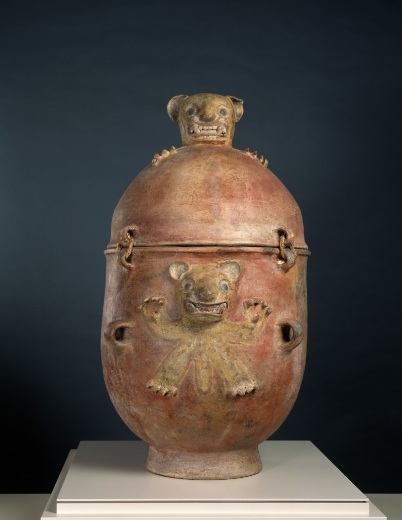 Burial Urn with Modeled Jaguars