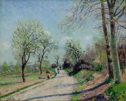 Road from Veneaux to Moret (Route de Veneaux a Moret-Jour de Printemps)