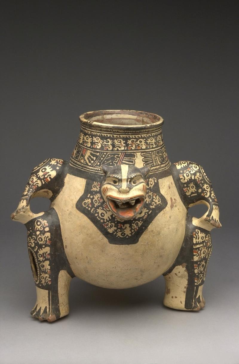 Seated Jaguar-form Tripod Jar