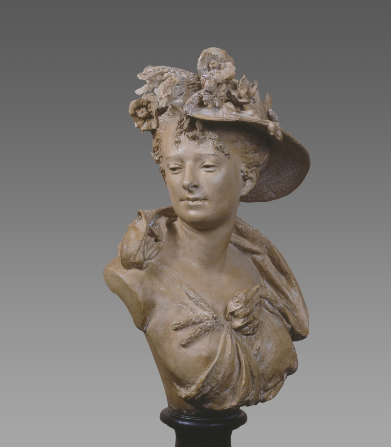 Bust of a Woman in Bonnet/Summer