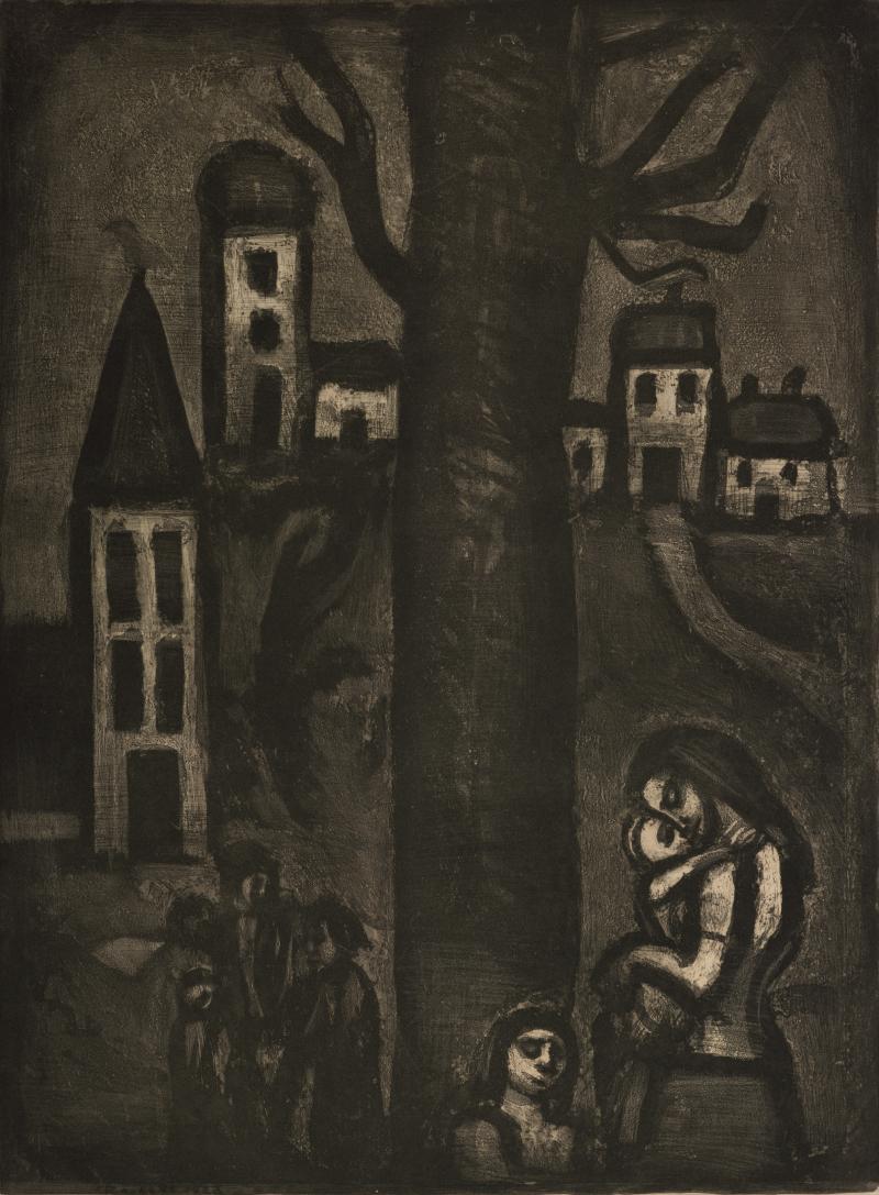 Au Vieux Faubourg des Longues Peines; from Folio Miserere