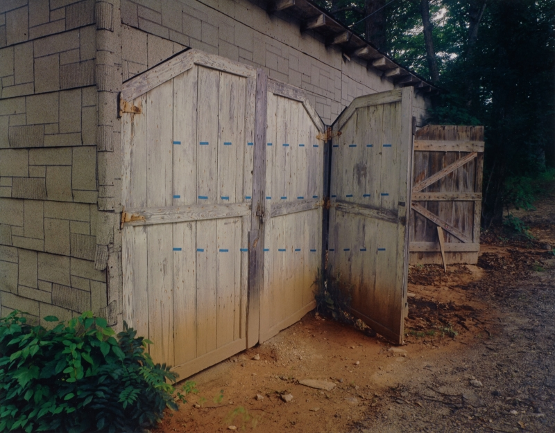 Shed with Blue Dotted Lines, Penland, North Carolina