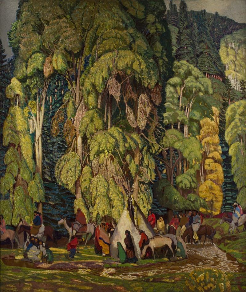 Landscape with Indian Camp