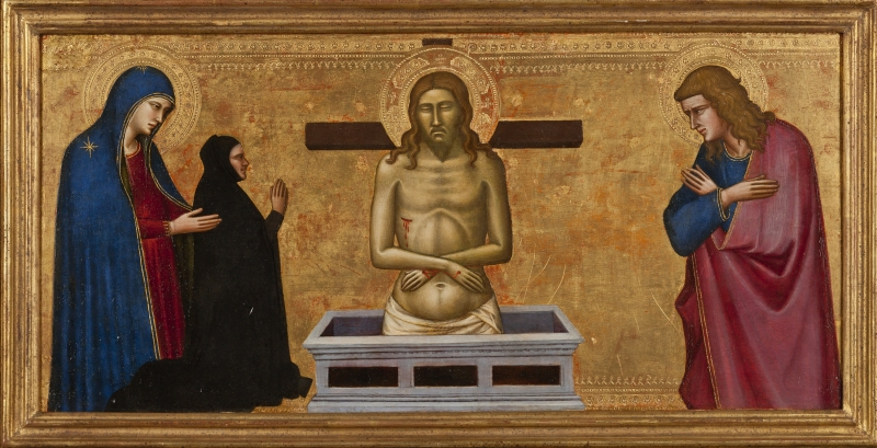 Man of Sorrows with the Virgin Mary, St. John, and a Donor