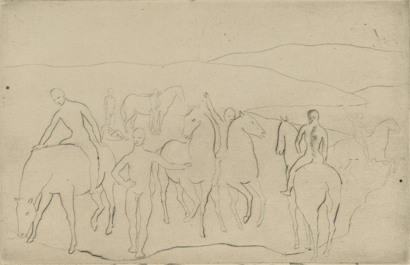 Watering Place (Youths and Horses)