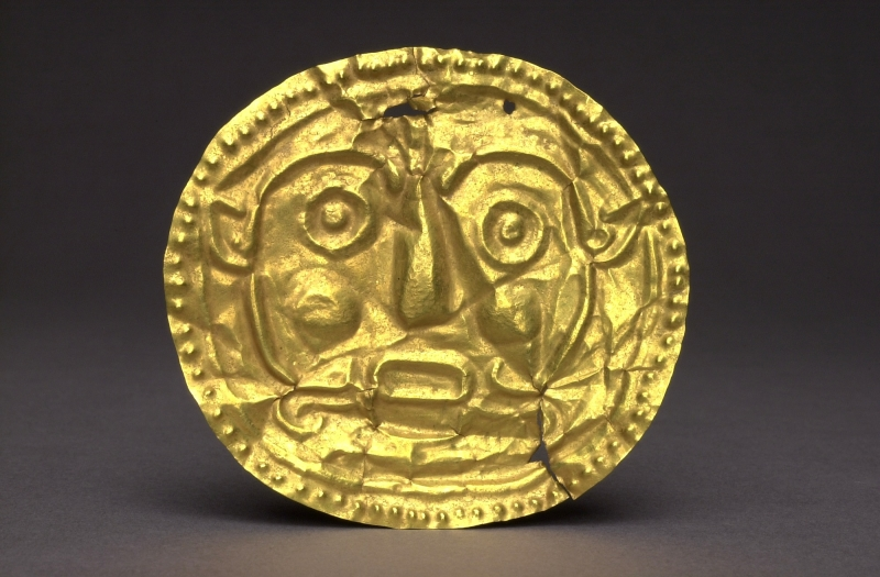 Gold Disk with Embossed Face