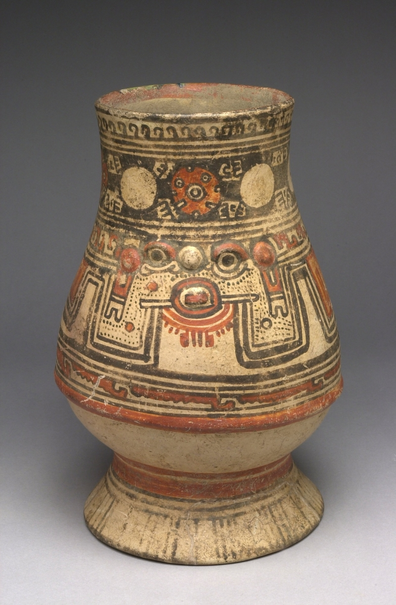 Pedestal Jar with Human Face