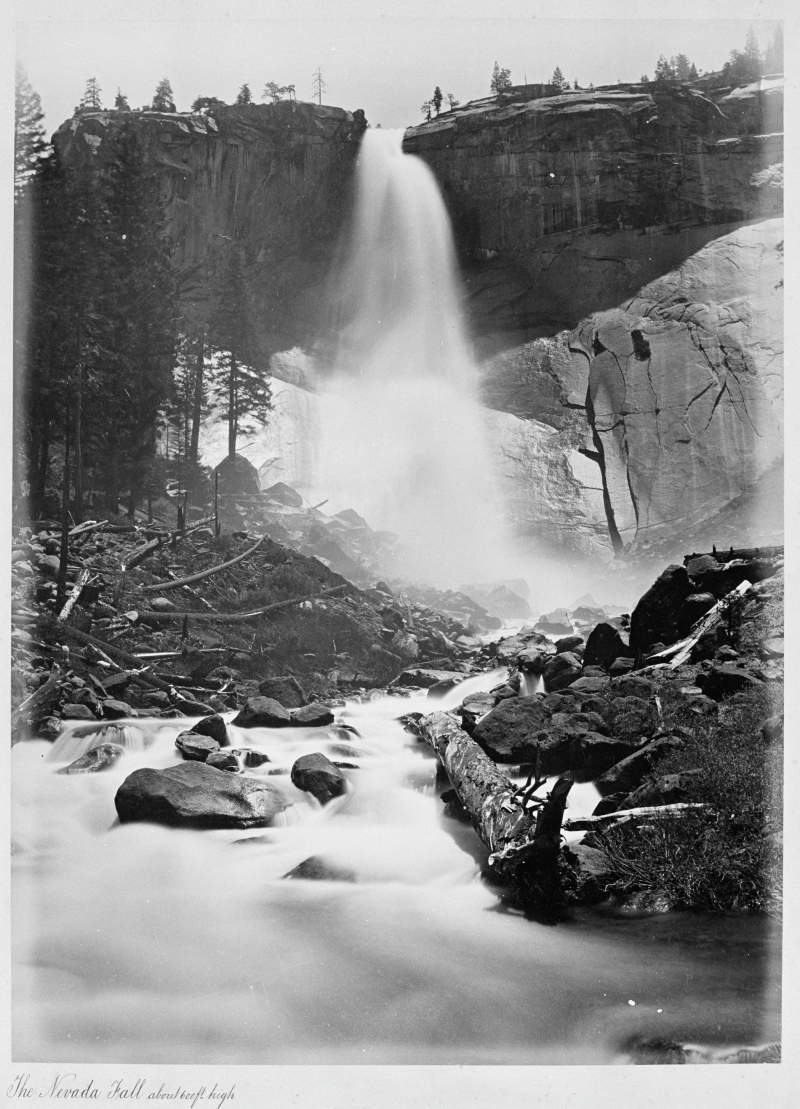 The Nevada Fall, about 600 ft. high