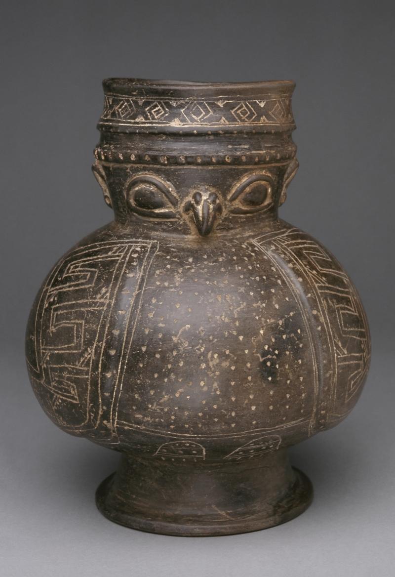 Bird-form Pedestal Jar