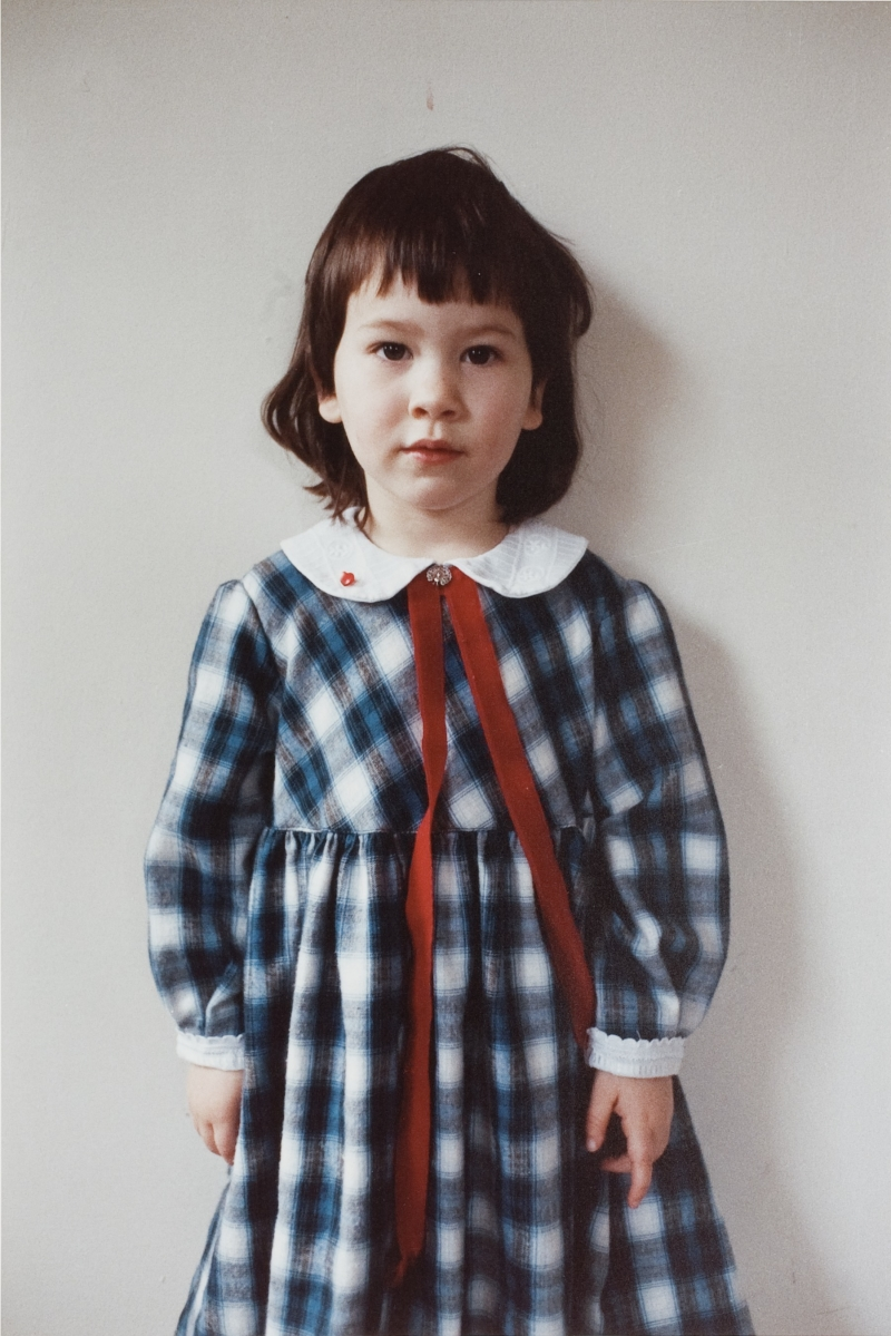 Nellie in Blue Plaid Dress, Seattle