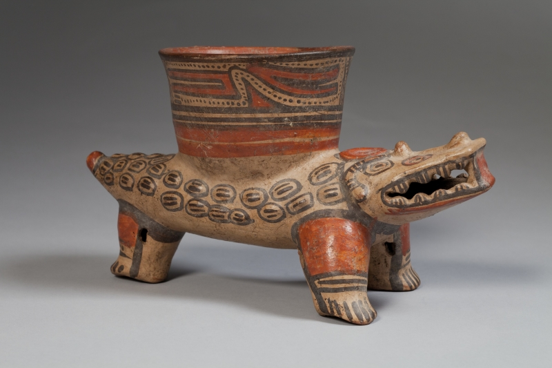 Crocodile-form Tripod with Bowl atop Back
