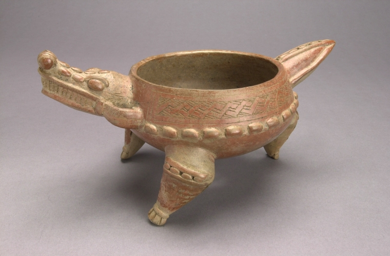 Crocodile-form Tripod Bowl