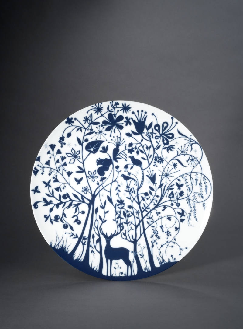 Deer in Forest Plate from the Table Stories Dinnerware