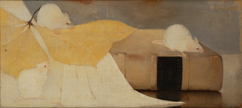 Still Life with Mice and Books