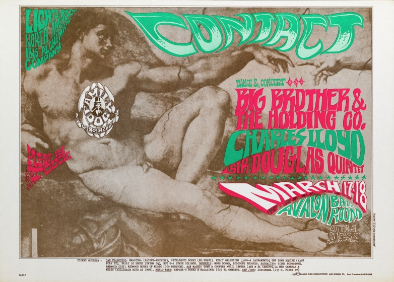 Contact; Big Brother and the Holding Company, The Sir Douglas Quintet, and Charles Lloyd at Avalon Ballroom