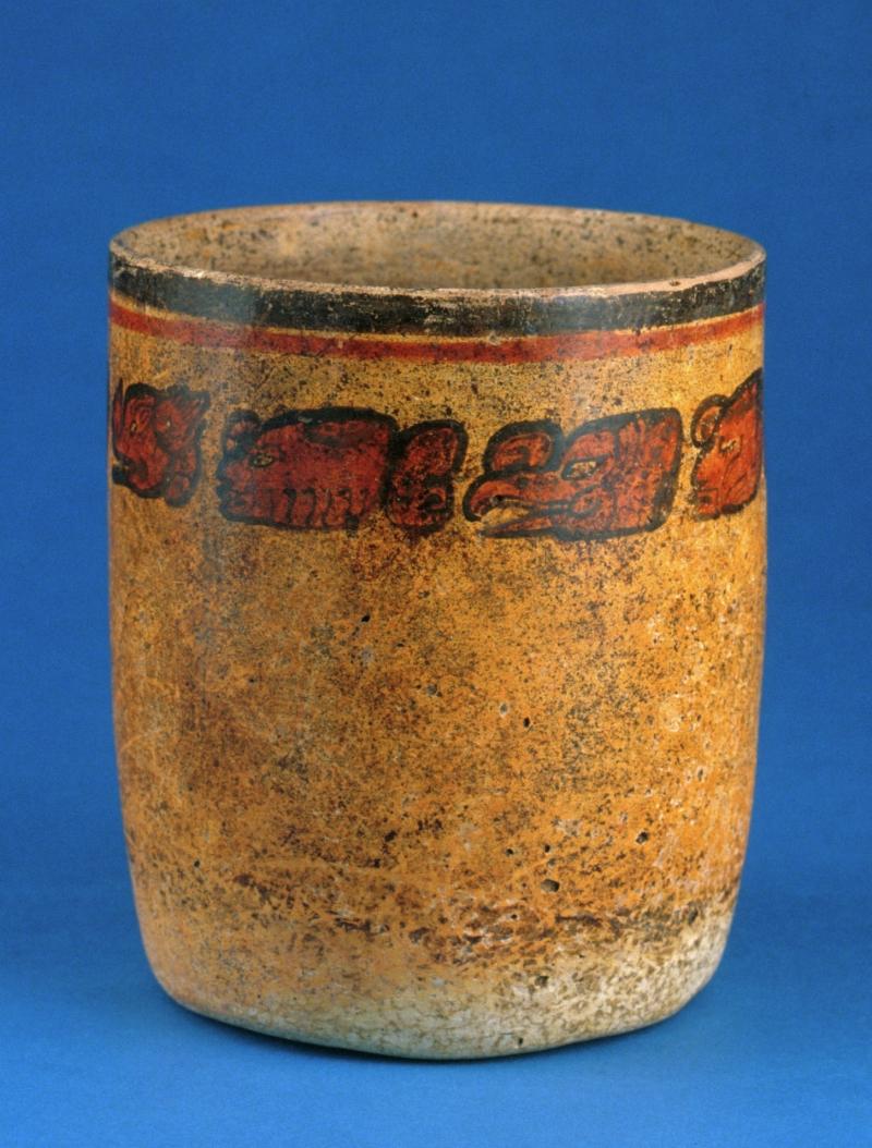 Ceramic Cup with Hieroglyphic Inscription