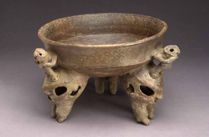 Tripod Bowl with Modeled Supports