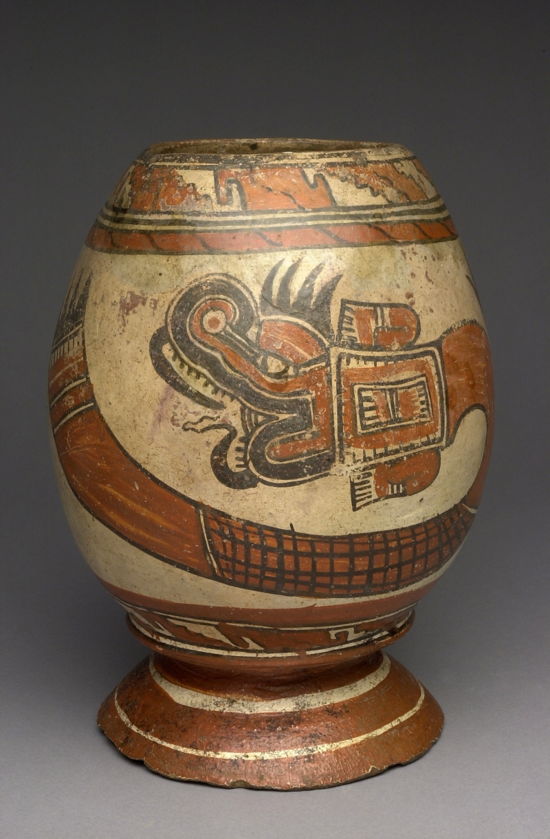 Pedestal Jar with Serpent Imagery