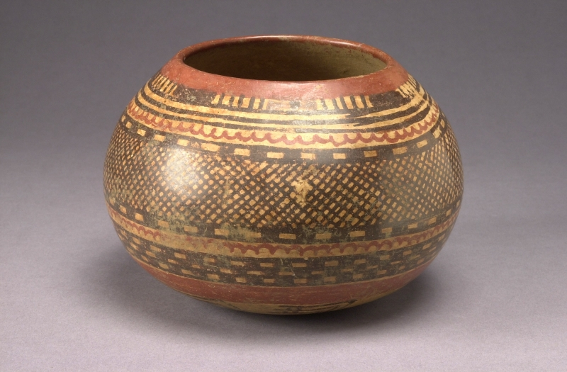 Small Jar with Cross-hatched Pattern