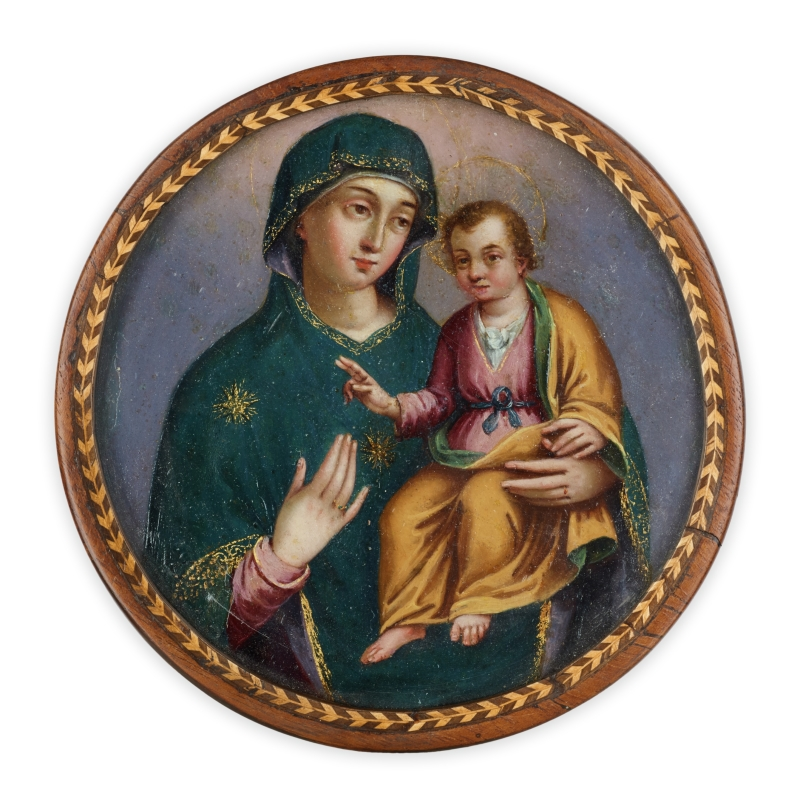 Virgin and Christ Child (nun's badge)