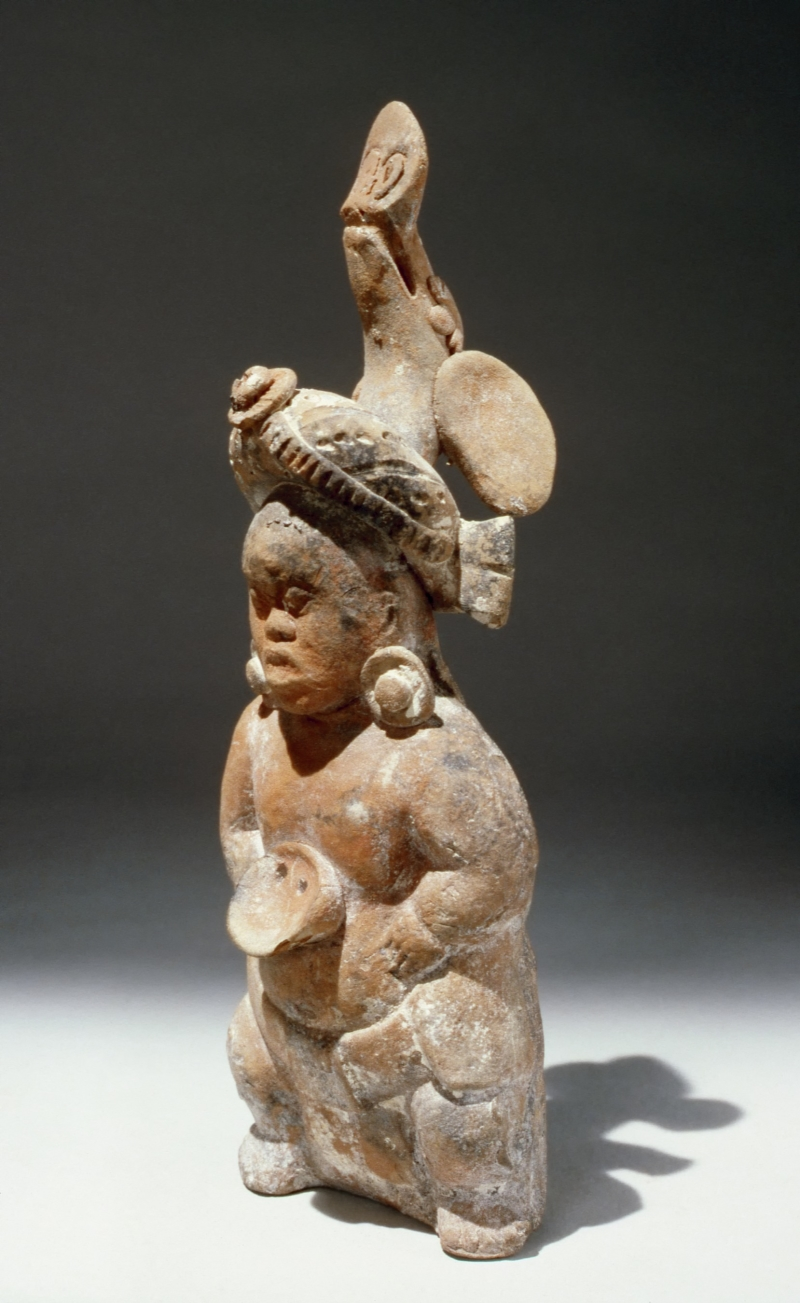 Jaina-Style Whistle Figurine of a Dwarf (one of a pair)