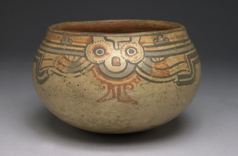 Bowl with Stylized Human Imagery