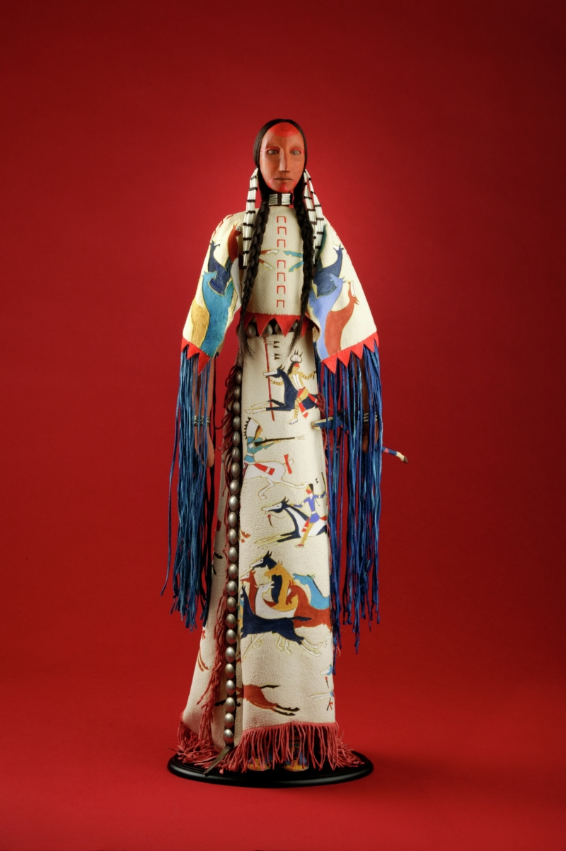 Cheyenne doll—Woman in War Honor Dress