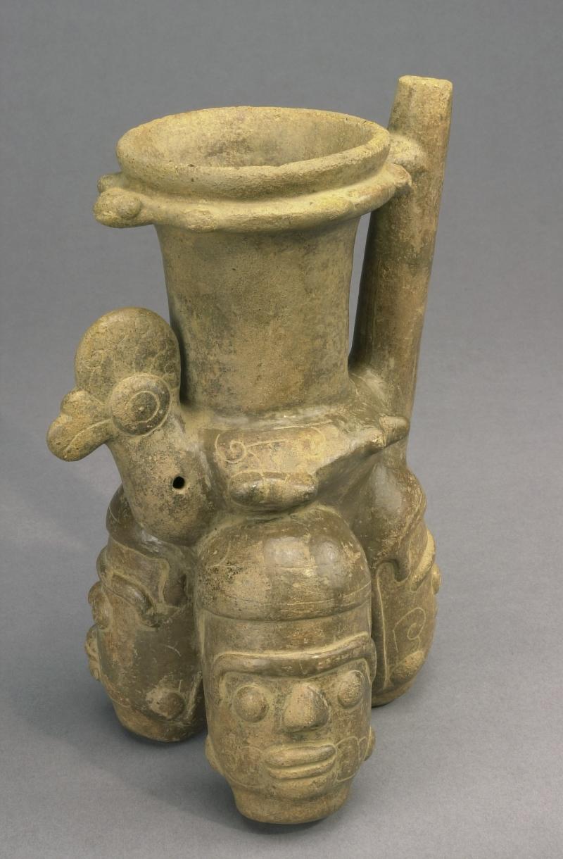 Maya-style Spouted Jar