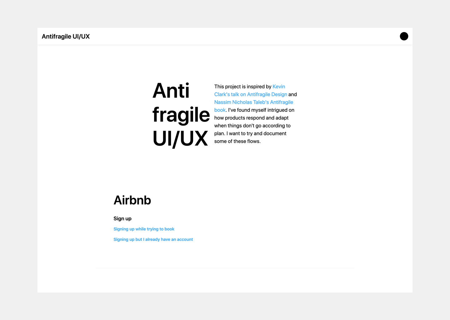 Home page final design