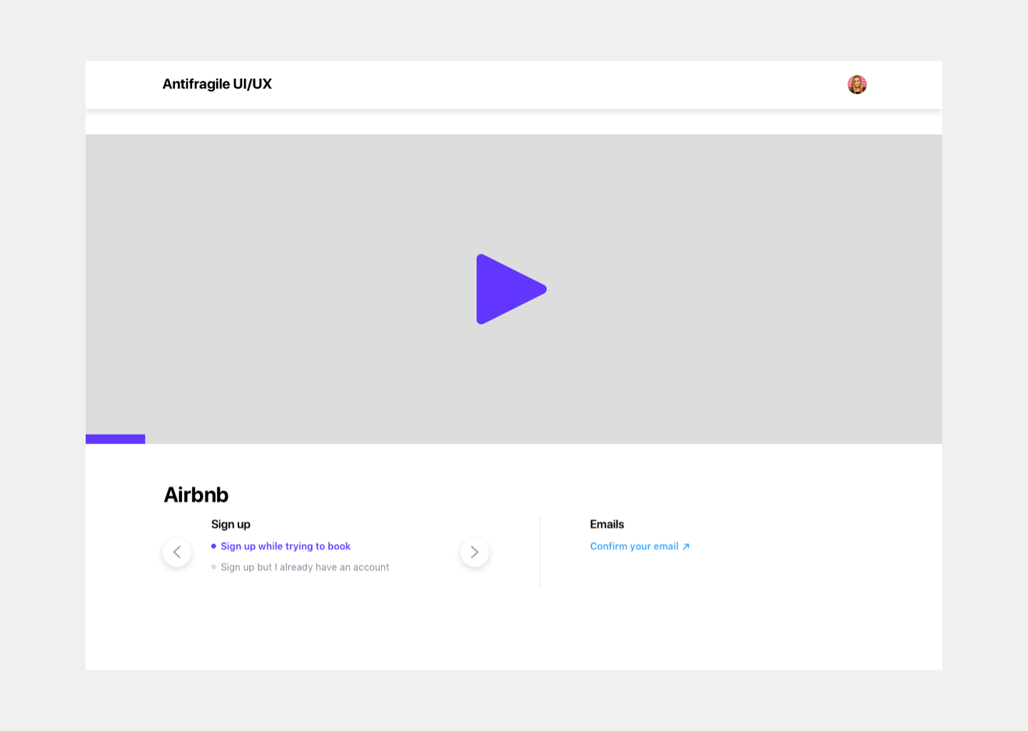 Video page final design