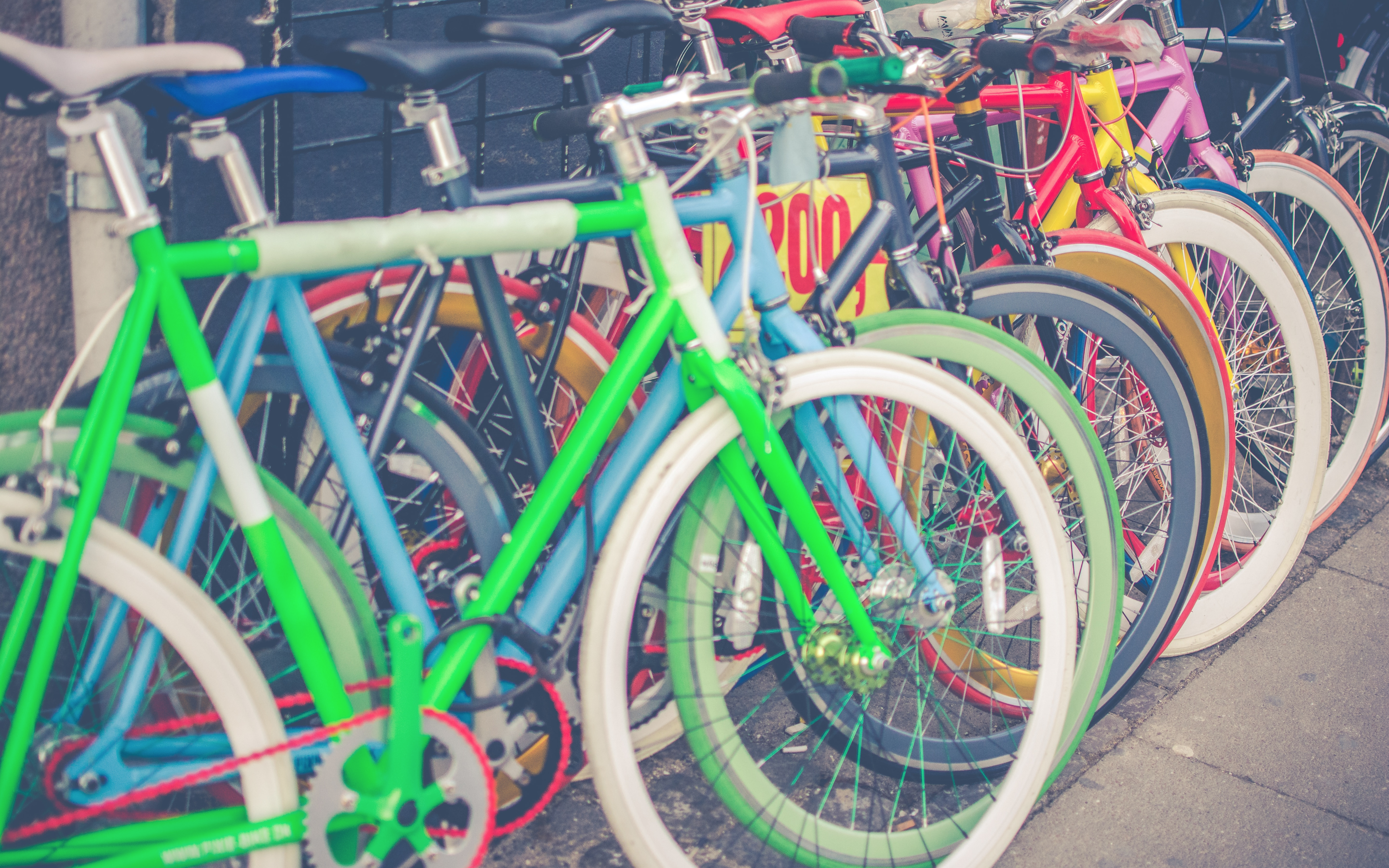 bikes, colorful, travel, bicycle, hero graphic,